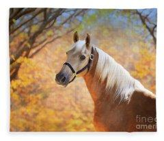 Fleece Blanket featuring the digital art Golden Spirit by Melinda Hughes-Berland