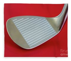 Fleece Blanket featuring the photograph Golf Club Wedge by Mats Silvan