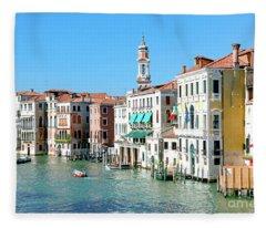 Grand Canal Venice Fleece Blanket