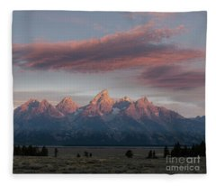 Grand Teton Awakens Fleece Blanket
