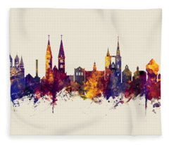 Halberstadt Germany Skyline Fleece Blanket