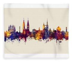 Halberstadt Germany Skyline Fleece Blanket
