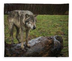 Hangin On The Log Fleece Blanket