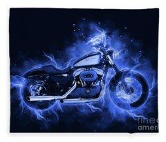 Harley Davidson Sportster Fleece Blanket