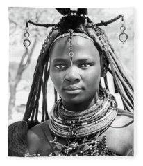 Himba Girl Fleece Blanket