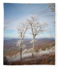 Hoarfrost Gathers Fleece Blanket