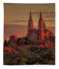 Holy Hill Sunrise Square Fleece Blanket