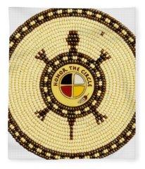 Honor The Circle Fleece Blanket