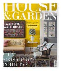 House And Garden September Fleece Blanket