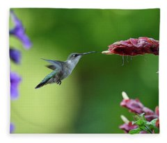 Hummingbird Heaven Fleece Blanket