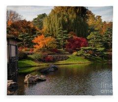 Japanese Gardens Fleece Blanket