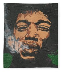 Jimi Hendrix Fleece Blanket