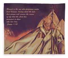 John Paul II In The Wind Fleece Blanket