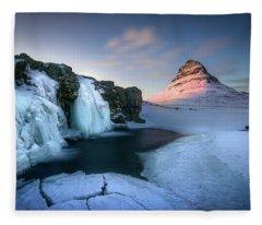 Kirkjufell, Iceland Fleece Blanket