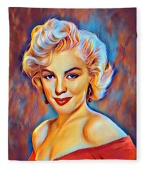 Lady  Monroe  Fleece Blanket