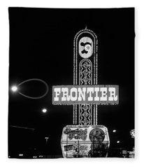 Las Vegas 1984 Bw #12 Fleece Blanket