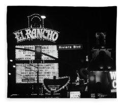 Las Vegas 1984 Bw #13 Fleece Blanket