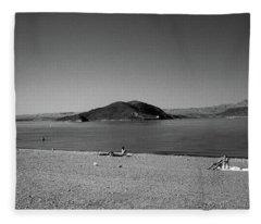 Las Vegas 1984 Bw #6 Fleece Blanket