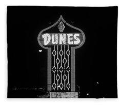 Las Vegas 1984 Bw #7 Fleece Blanket