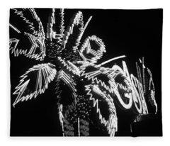 Las Vegas 1984 Bw #9 Fleece Blanket