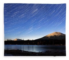 Lava Lake Star Trails Fleece Blanket
