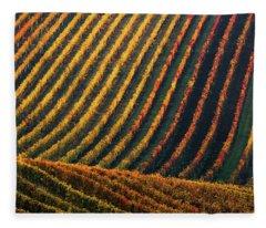 Line And Vine Fleece Blanket