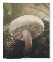 Look At The Mushroom Fleece Blanket