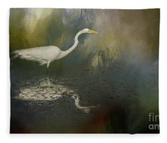 Looking For Lunch Fleece Blanket