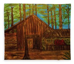 Lowe Barn Fleece Blanket