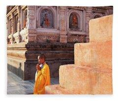 Mahabodhi Fleece Blanket