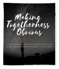 Making Togetherness Obvious Fleece Blanket