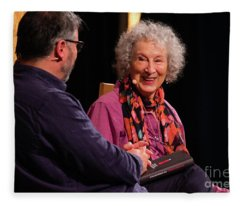 Margaret Atwood At The Hay Festival 2018 Fleece Blanket