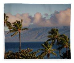 Maui Palms Fleece Blanket