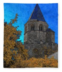 Medieval Bell Tower 6 Fleece Blanket