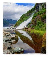 Mendenhall Waterfall Fleece Blanket