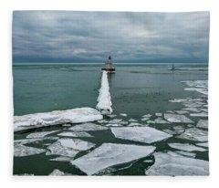 Milwaukee Breakwater Lighthouse Fleece Blanket