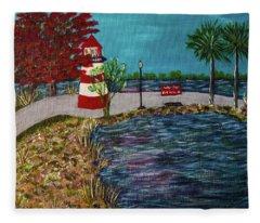 Mount Dora Lighthouse Fleece Blanket