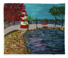 Mount Dora Lighthouse Fleece Blanket