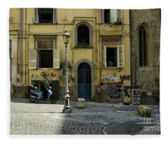 Naples Italy Fleece Blanket