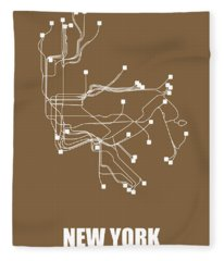 New York Subway Map I Fleece Blanket