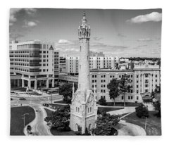 Fleece Blanket featuring the photograph North Point Tower by Randy Scherkenbach