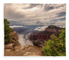 North Rim Fog 1 - Grand Canyon National Park - Arizona Fleece Blanket