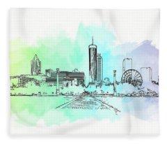 Olympic Park Atlanta Fleece Blanket