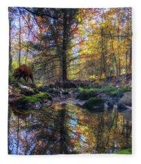 On The Hunt Fleece Blanket