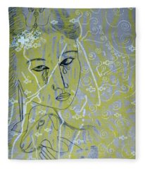 Our Lady Of Asia Mary Mother Of Jesus Christ Divine Shepherdess Fleece Blanket