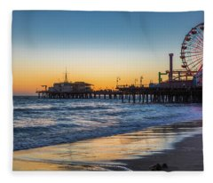 Pacific Park On The Pier Fleece Blanket