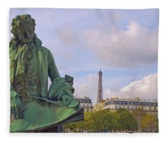Paris View #4 Fleece Blanket