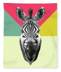 Party Zebra  Fleece Blanket