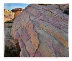 Pastel Colored Sandstone In Valley Of Fire Fleece Blanket