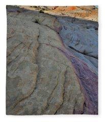 Pastel Colors In Valley Of Fire Fleece Blanket